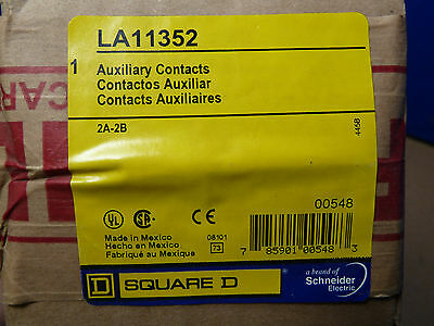 NIB Square D LA11352 2A-2B Auxiliary Contact Switch Sealed MFG PKG [13L]