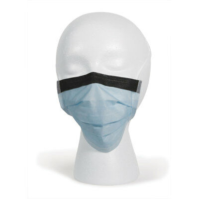 Disposable Surgical Face Masks Tie-On Anti-fog Foam band Latex free Blue 300 pk