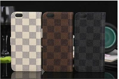 Luxury Fashion Deluxe Leather Wallet Flip Case Cover For Apple iphone 7 8 PLUS