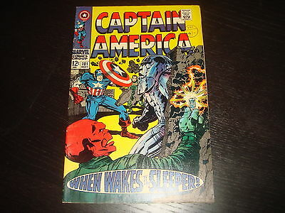 CAPTAIN AMERICA #101 Jack Kirby Red Skull Marvel Comics 1968  VF/VF-