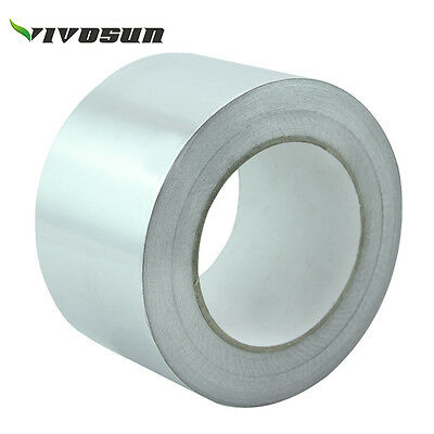 Silver Foil Aluminium Insulation Heating Duct Tape Reinforced 30 Mu 75mm x 50m