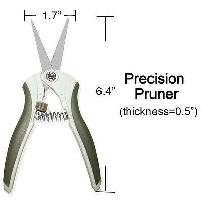 "6.4"" Garden Precision Pruners Shears Straight Blade Scissors Plant Tree Cutter"