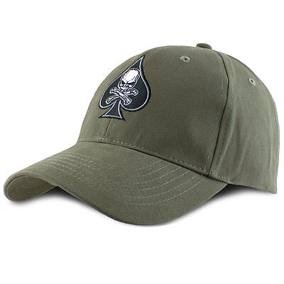 Mens Death Spade Patch Military Army Tactical Patch Insignia Cap Hat OD Green
