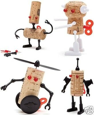 Monkey Business Corkers Robots Fun DIY Wine Bottle Cork Puzzle Gimmick Cute Gift