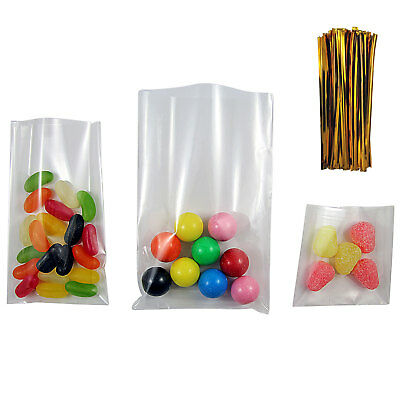 Clear Cellophane Plastic Display Bags for Lollipops, Cake Pops and Sweets Party