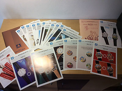 Folleto Booklet SVEND ANDERSEN - Eros Collection - Watches Montres Relojes