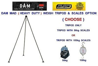 6ft HEAVY DUTY WEIGHING TRIPOD OPTION FOR CARP FISHING WEIGH SLING SCALES T BAR