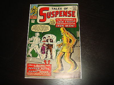 TALES OF SUSPENSE #45 1st Pepper Potts and Happy Iron Man Marvel Comics 1963 VF-