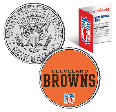 CLEVELAND BROWNS  NFL JFK Kennedy Half Dollar US Coin  *Officially Licensed*