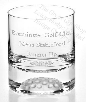 GOLFERS WHISKY GLASS PERSONALISED BOXED Memorable Quality Gift MESSAGE ENGRAVED