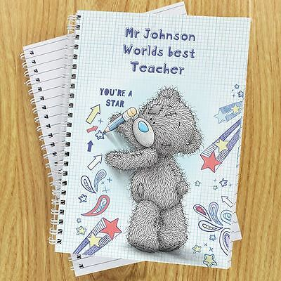 Me to You Personalised Thank You Teacher Notebook Gift - Tatty Teddy Bear