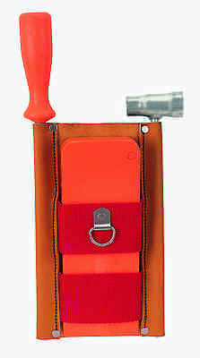 Weaver Leather Red Tool Holster - Holds Wedge, Wrench and Chain Saw File