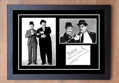 Stunning Quality Laurel & Hardy Signed / Autographed And Framed Print