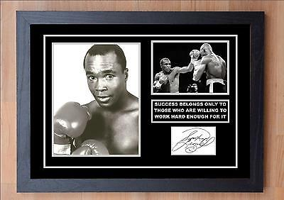 Sugar Ray Leonard Signed / Autographed And Framed Print