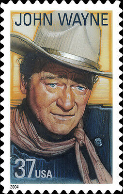 2004 37c John Wayne, American Film Actor, True Grit Scott 3876 Mint F/VF NH