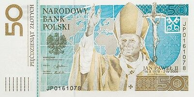 Poland 50 Zlotych Pope John Paul Ii P178 Commemorative With Folder  Unc