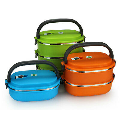 1/2/3 Layer Stainless Steel Thermal Insulated Lunch Box Bento Food Container New
