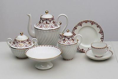 Coffee set 6/22 pcs TERRACOTA FRIEZE, Lomonosov / Imperial Porcelain, Russia