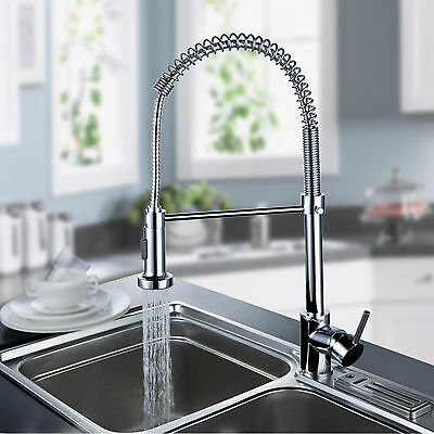 Kitchen Sink Mixer Faucet Pull Out Spring Single Handle Chrome – Brass Kitchen Sink