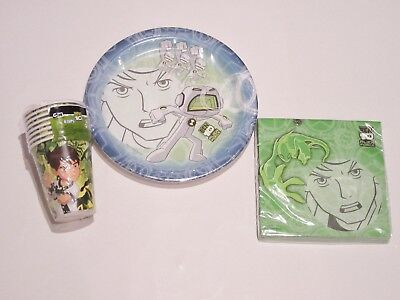 Ben 10 Assorted Paper Disposable Napkins Plates Cups 125