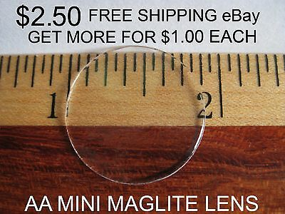 Crystal Clear AA Mini Maglite Lens $2.50   FREE SHIPPING