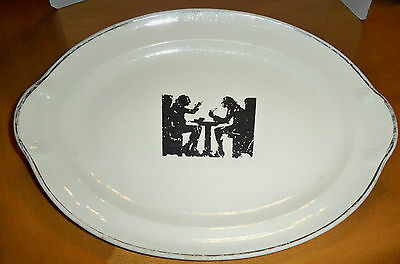 """Taylor Smith Taylor USA Oval Serving Platter/Plate Silhouette 644 11 5/8"""""""