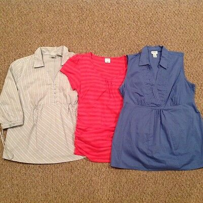 Casual Maternity Top Bundle - Size L (Motherhood, Duo - 3 Pieces)