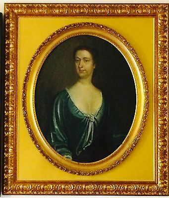 18Th Century Portrait Manner Of Thomas Gibson Original Oil Painting