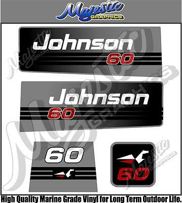 JOHNSON - 60hp - OUTBOARD DECALS