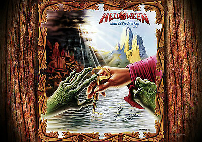 Helloween 3 Photo Rock Band Print Heavy Metal Picture Vintage Music Poster