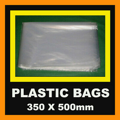 PLASTIC BAG 350x500mm 250 MAIL POST COURIER PACKING POLY HEAT SEAL AUSTRALIA NEW