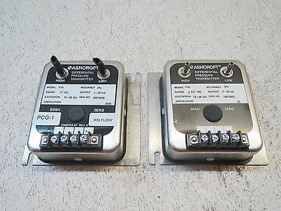 Ashcroft Xldp Differential Pressure Switch 4-20 Ma (Lot Of 2) Used