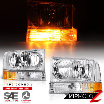 """99-04 FORD F250 F350 F450 SuperDuty Excursion """"FACTORY STYLE"""" Headlights Corner"""