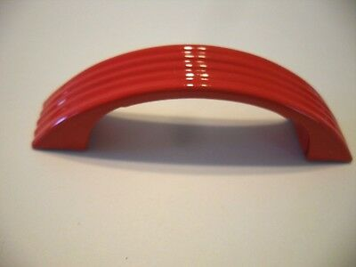 VINTAGE Art Deco RED DRAWER Door Pull Handle Ribbed Face Amerock