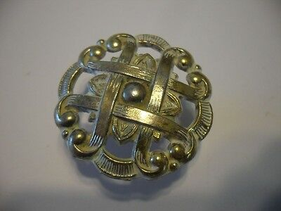 Vintage NOS Brass & White Metal Knobs Cabinet Door Drawer Pulls Lattice Pattern