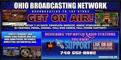 Start your own internet broadcasting network with streaming and web design radio