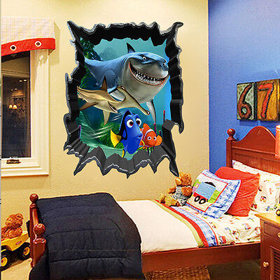 Hot Finding Nemo Dory 3D View Art Wall Stickers Decals Mural Home Room Decor