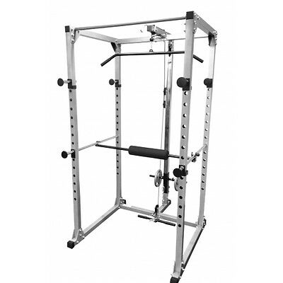Power Rack Squat Cage Stands with Lat Pulldown Home Gym