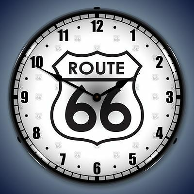 Route 66 Lighted Wall Clock