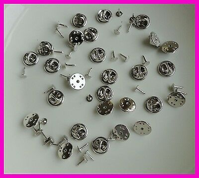 100pcs 1.2cm plain metal butterfly clip and pins back suitable to brooch,silver