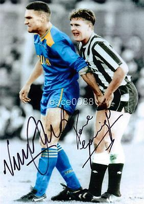 Vinnie Jones & Paul Gascoigne 'gazza' Signed / Pre-Printed Exclusive A4 Print