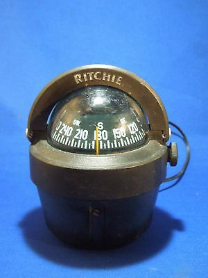 Vintage Ritchie B-51 Lighted Nautical Ship's Compass Small Navigation Maritime