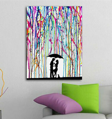 Romantic Love Stretched Canvas Print Framed Wall Art Office Decor Painting Gift