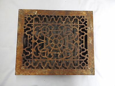 Antique Cast Iron Victorian Heat Grate Register Vent Old Vtg Hardware 4571-15