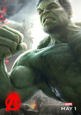 New Movie Poster Print: Avengers Age of Ultron - The Hulk A3 / A4