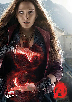 New Movie Poster Print: Avengers Age of Ultron - Scarlet Witch A3 / A4
