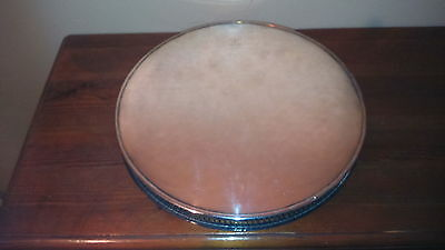 Viners Chased Silver Plated corporate mark GALLERY TRAY 10.4inDia 490 gms