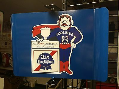 Pabst Blue Ribbon Beer Vintage Era Style Spinning Wall Mount Advertising Sign