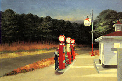 Edward Hopper Western Motel Lady  Suitcases Poster Repro FREE SHIPPING