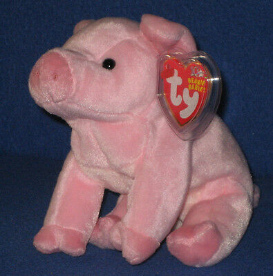 TY SQUEALER the  PIG BEANIE BABY MINT with MINT TAGS